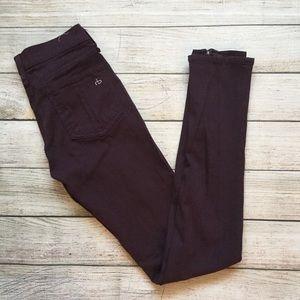 Rag & Bone Wine Legging Zipper Jeans